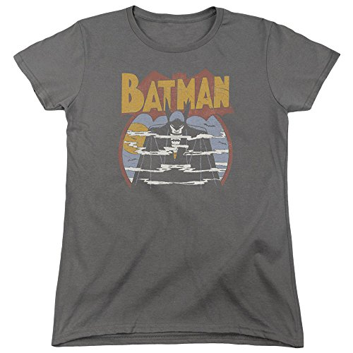 DC Comics Damen T-Shirt Anthrazit