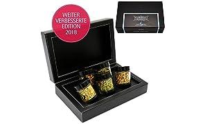 Hallingers 5er Bayerisches Tee-Geschenk-Set mit Kräutertee & Detox-Tee (40g) - Boarisches Lebensg'fui (MiniDeluxe-Box) - zu Geburtstag & Glückwunsch