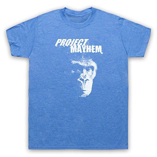 Inspiriert durch Fight Club Project Mayhem Unofficial Herren T-Shirt Jahrgang Blau