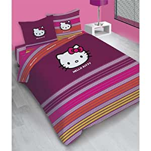 hello kitty parure de lit housse de couette 200 x. Black Bedroom Furniture Sets. Home Design Ideas