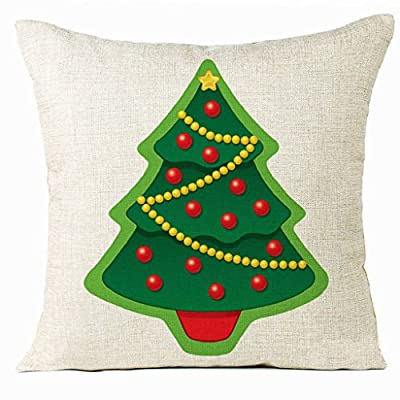OverDose Home Decoration Christmas Tree Pillow Case Cushion Cover(No Pillow Insert) produced by OverDose - quick delivery from UK.