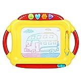 Peradix Lavagna magnetica tavolo da disegno cancellabile magica per bambini un anno 2 anni 3 anni 4 anni - Giocattoli educativo e Gioco creativo - Portatile (Giallo - Rosa)