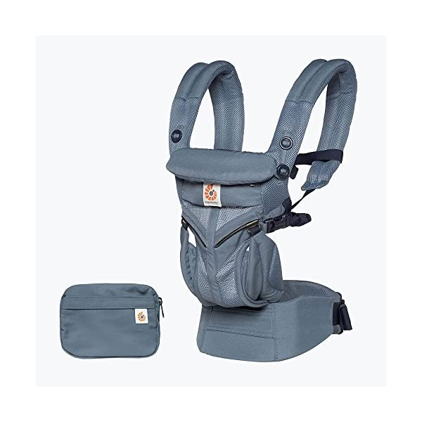 ErgoBaby Omni 360 Baby Carrier Mesh Oxford Blue Ergobaby Flexibility: Accommodates all carry positions: front facing parent, front facing out, hip, and back Adapts to baby's growth: Newborn to toddler (7-33 lbs / 3.2-15 kg), no infant insert needed Exceptional comfort: Longwear comfort with lumbar support waistbelt and extra cushioned shoulder straps 1