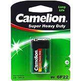 Camelion Batterie Super Heavy Duty 6F22 9-V-Block 1er Blister, Alkaline, 9V