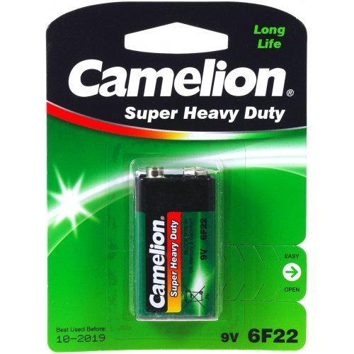Camelion Batterie Super Heavy Duty 6F22 9-V-Block 1er Blister, Alkaline, 9V 6f22 Super Heavy Duty Batterien