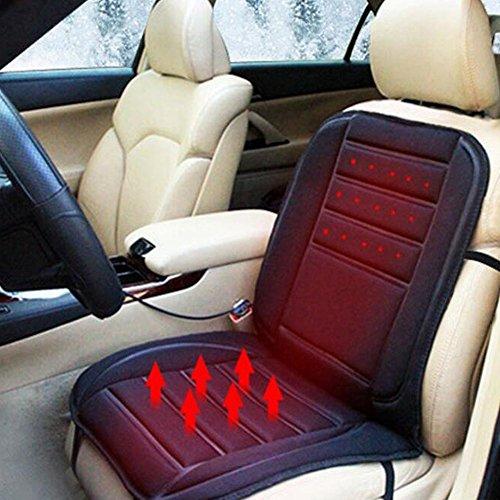 Preisvergleich Produktbild Hillington® Beheizbare Sitzauflage, Anschluss am 12-V-Zigarettenanzünder, Gepolsterte Elektrische, wärmende Sitzauflage für den Winter mit 2Heizstufen, einfachem Kontrollschalter und Überhitzungsschutz