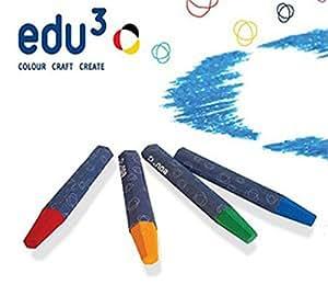 EDU3 Jumbo cire liquide Jumbo Pastel à l'huile-Lot de 12