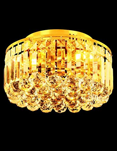 BAIJJ Modern Energy Saving Ceiling Light - LED Round Yellow Crystal Ceiling Lights Living Room Bedroom Hall Modern Atmosphere Home Ceiling Lights (Not Include The Light Source) (Size : 30cm)