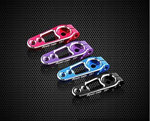 Junsi Power HD 25T Aluminum RC Digital Servo Arm Horn bras Corne for Power HD & Futaba Servo Color Blue