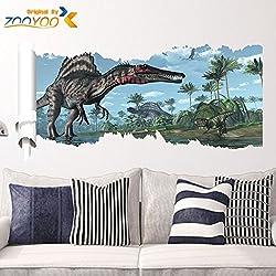 zooarts dinosaurios animales salvajes Palm Árbol desplazamiento extraíble pared vinilo adhesivo adhesivos