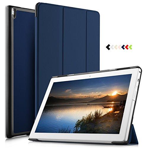 IVSO Lenovo Tab4 10 PLUS Hülle, Ultra Schlank Ständer Slim Leder zubehör Schutzhülle perfekt geeignet für Lenovo Tab4 10 PLUS / Lenovo Tab 4 10 PLUS Tablet PC, Blau