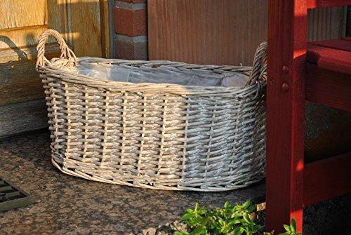 Weidenkorb,Jardinere,oval,naturbelassen,als Pflanzkorb,50cm