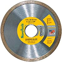 NOVOTOOLS Profi Diamond Continuous (Tile) Blade 115mm - Universal Cutting Diamond Disc for Angle Grinder for All Types of Ceramic Tiles, Porcelains. High Quality