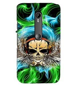 PrintDhaba Skull D-2942 Back Case Cover for MOTOROLA MOTO G3 (Multi-Coloured)