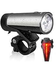 LED Fahrradlicht Set StVZO zugelassen KingTop 50 Lux LED Fahrradlampe Rücklicht Wiederaufladbar