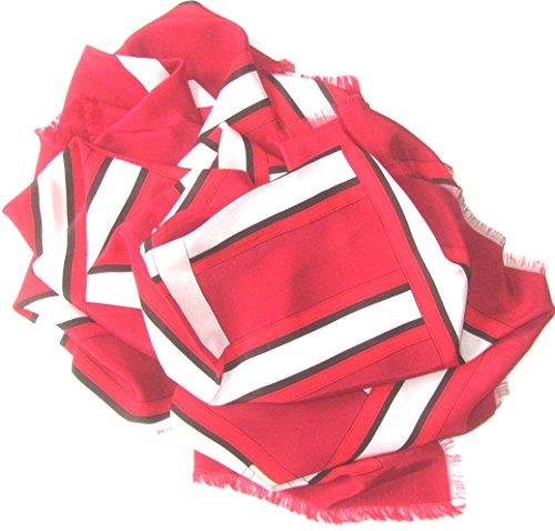burberry-seidentuch-120-x-120cm-rot-schwarz-weiss-mit-gurtelschnallenmotiv-scarve