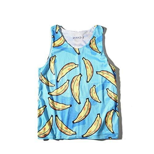 OPPP Herren Tank-Top Sommer Herren Doppelschicht Netto Weste Mode ärmellose T T-Shirt Druck Shirts Urlaub am Meer Ausflug, XXL (Netto-weste)