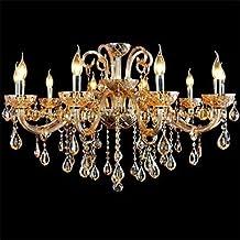 10-Licht im Stil Palast Glas-Kronleuchter mit Kerzenlampe