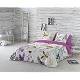 COTTON ART- Funda Nórdica OH LA LA Cama de 150 / 160 (240x260cm)+ 2 FUNDAS DE ALMOHADA (45X80cm). ALGODÓN 100%. Disponible para cama de 90, 105, 135, 150 y 180.