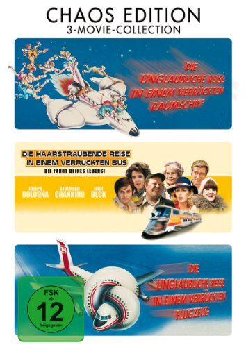 #Die unglaubliche Reise in einem verrückten Raumschiff / Die haarsträubende Reise in einem verrückten Bus / Die unglaubliche Reise in einem verrückten Flugzeug [3 DVDs]#