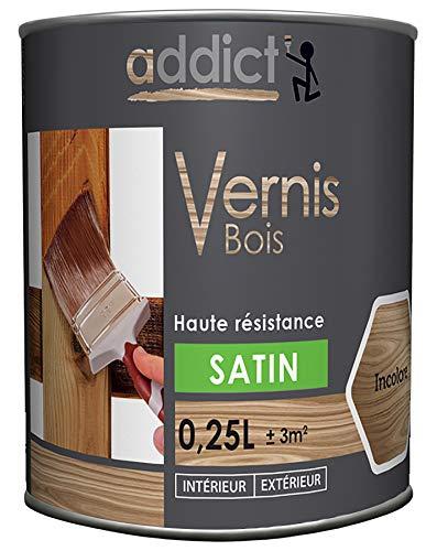 ADDICT VERNIS BOIS SATIN INCOLORE 250 ML