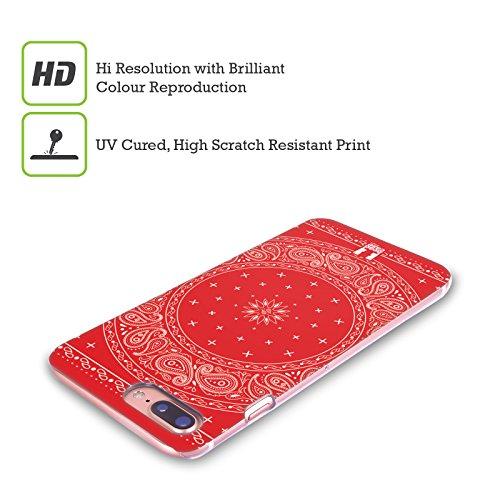 Head Case Designs Rosso Paisley Bandana Classica Cover Retro Rigida per Apple iPhone X Cerchio Rosso