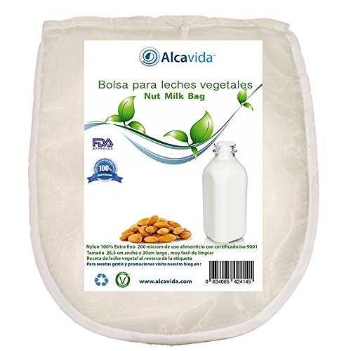 Bolsa para hacer leches vegetales y germinador de Alcavida Maya fina y certificada por la FDA