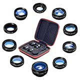 10 in 1 Universal Phone Camera lens kit Clip-on Phone Wide Angle lens