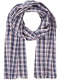 Tommy Hilfiger Herren Schal All Over Check Scarf, Blau (Tommy Navy 413), One Size
