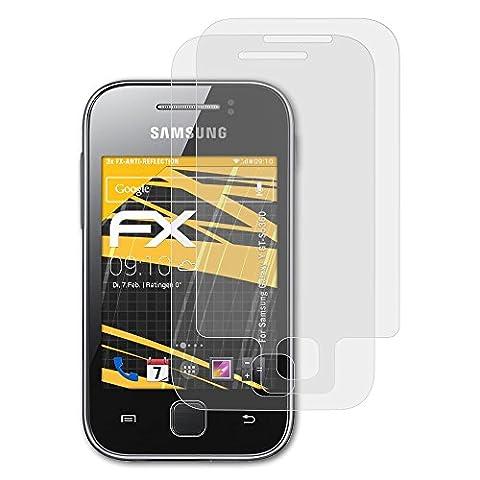 Samsung Galaxy Y (GT-S5360) Displayschutzfolie - 3er Set atFoliX FX-Antireflex blendfreie Folie Schutzfolie