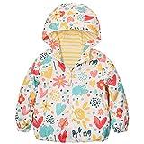 Catawe Kinder Jacke Junge Mädchen Regenjacke Frühling Herbst Winter Windjacke Süßem Pattern Mantel für Körpergröße 90-120cm