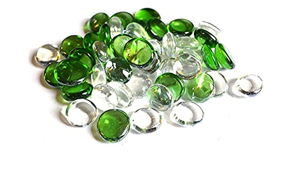 app 115 Mixed Colours Glass Pebbles//Stones//Gems//Nuggets //Beads 20mm SOOTHING IDEAS 500g