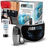 ABFLEX Cintura Addominale per Muscoli Addominali snelli e tonici - Nessun Cuscinetto di Ricambio mai - Comodo Telecomando per