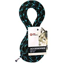 GM CLIMBING cable accesorio 8mm (5 / 16in) cuerda Trenzado doble 19kN CE / UIAA precortado (Negro, 50 pies / 16 m 8 mm)