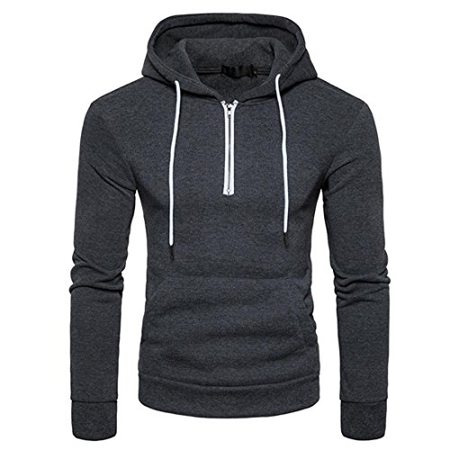 Preisvergleich Produktbild Herren Hooded Sweatshirt Btruely Herbst Winter Sport-Pullover Männer Mit Kapuze Slim Kapuzenpullover Warm Outwear (S