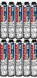 10 Mousses expansives polyuréthane 750 ml pour...