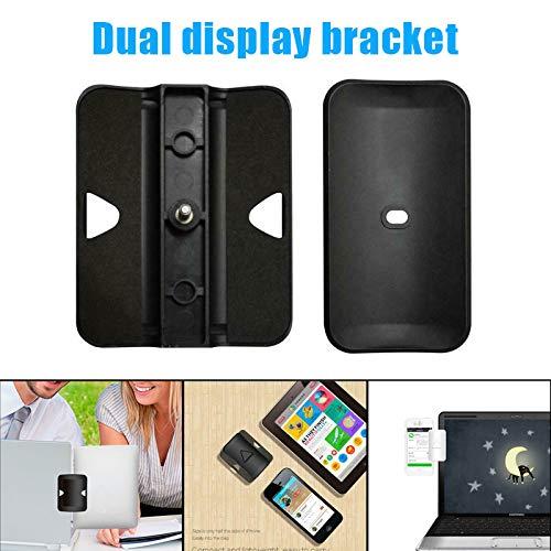 Dušial Multi-Screen Support Laptop Side Mount Tablet Bracket Dual Triple Monitor Clip Holder