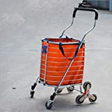 XF Carrello portapacchi pieghevole a rotelle con carrello girevole leggero da 8...