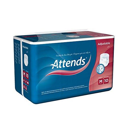 Attends Adjustable 10M, Inkontinenzhose mit Klettverschluss, bei starker Inkontinenz, Größe M, 21 St - 3