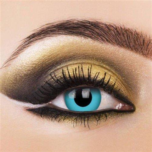 Tageslinsen One Day PACIFIC BLUE Kontaktlinsen blau dämon vampire halloween kostüme