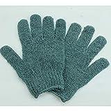 MACOSA KL15013 2 Paar Peeling-Handschuhe   Anthrazit   Massagehandschuh   Körper & Gesicht   Wellness für Zuhause   Waschhandschuhe   Hautpflege (Anthrazit)