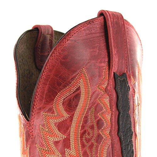 Lucchese , Bottes et bottines cowboy homme Multicolore - Chocolate Merlot