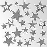 80 Sterne Aufkleber Wandschnörkel® 80 Sterne Aufkleber 21 Farben Fliesenaufkleber Wandtattoo Dekoration Fensterbilder Größe 3,5 cm -15cm Durchmesser