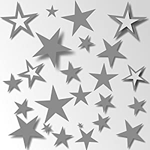 80 Sterne Aufkleber Wandschnörkel® 80 Sterne Aufkleber 21 Farben Fliesenaufkleber Wandtattoo Dekoration Fensterbilder...