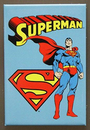 Superman Retro Vintage (2x3) Locker Kühlschrank-Magnet -