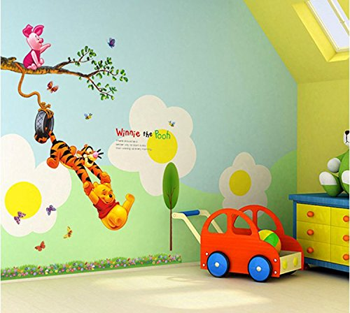 Jaamso Royals 'Kids Animals under Tree' Wall Sticker (60 cm X 90 cm)