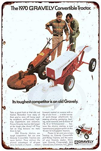 Array - cwb2jcwb2jcwb2j 1970 gravely convertible tractor vintage look reproduction 8 x 12 metal sign  rh   savemoney es