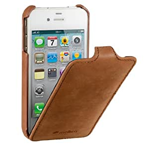 Melkco - Housse cuir flip ultra mince iPhone 4 / 4S vintage Marron
