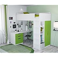 Polini Kids Kinder Etagenbett Hochbett Kombination 5 in 1 in verschiedenen Farben