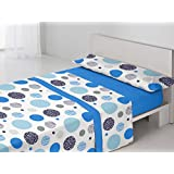 Juego de sábanas BEA Antonella Cama 105 cm. Azul - Sedalinne